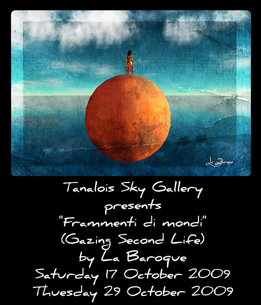 Frammenti di mondi (Gazing Second Life) Flyer