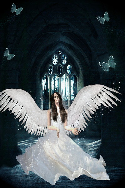 Sparkling angel, I couldn't see