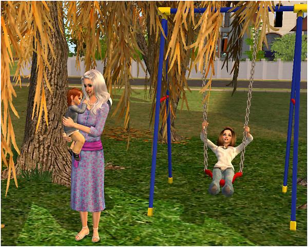Teresa con i nipoti
