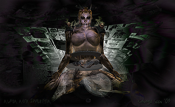 Alpha Auer -Syncretia Sim WALLPAPER by Cienega Soon 2009
