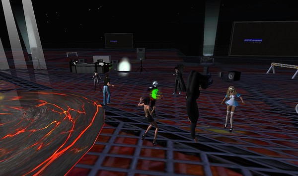 second life party in virtual w...