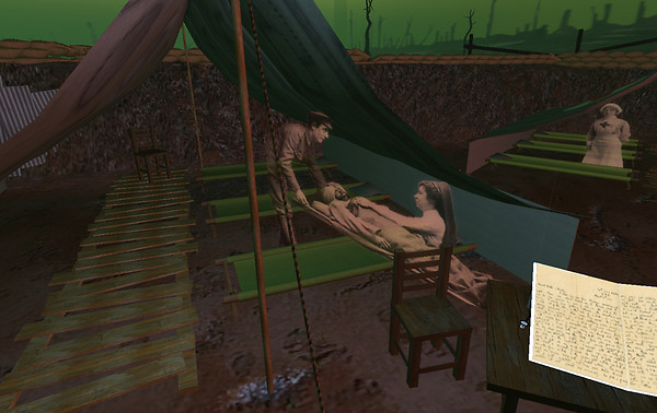 WW1 poetry sim - first aid station