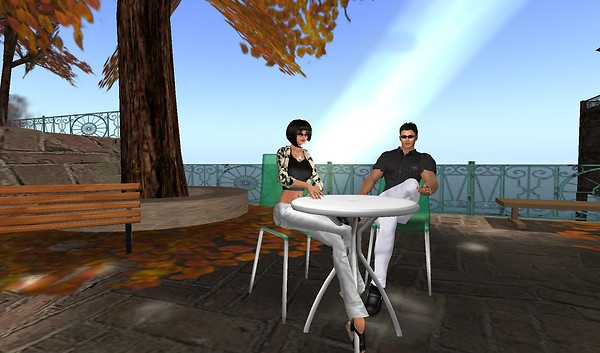 rafee, xavier at the patio for...