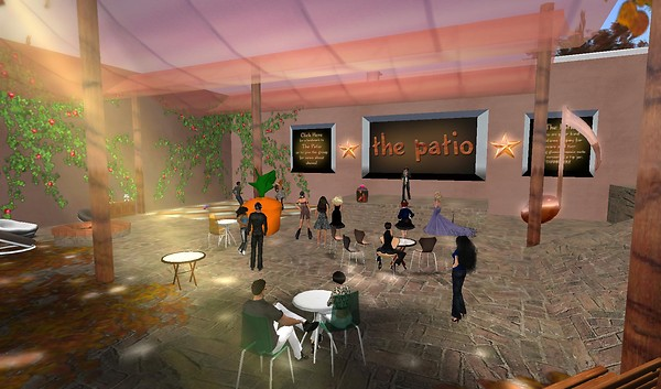 the patio in second life