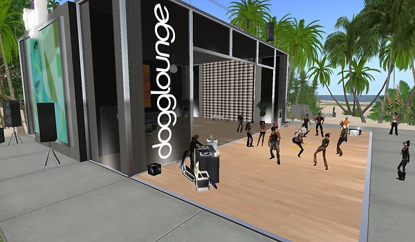 dogglounge party virtual world...