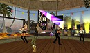 qwark allen party in virtual world of second life