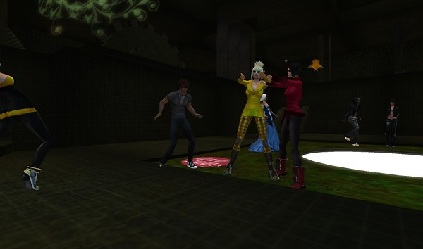 party at drain club in virtual world second life