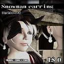 Snowman earring