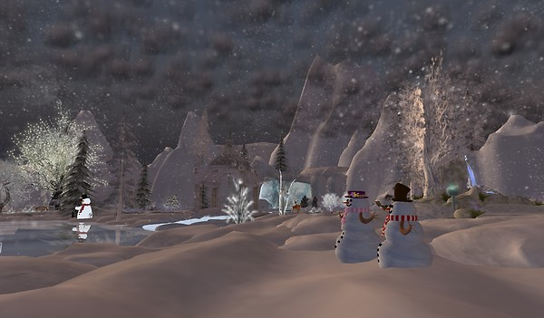 It's snowing in the metaverse!