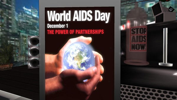 world aids day fundraiser in second life at dance4life