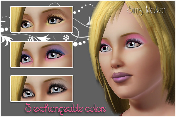 Eyeshadow 3 recolorable parts