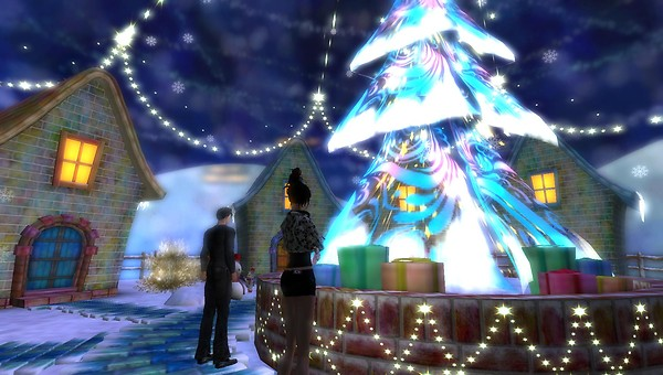 HPMD christmas tree in second life