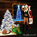 Kathie and Melli in Christmas ouftit