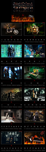 Metalverse 2010 calendar