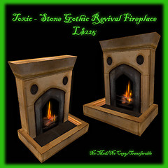 Toxic Angel Designs - Stone Gothic Revival Fireplace