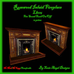 Rosewood Inlaid Fireplace