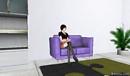 Chimera on her Frenzoo sofa
