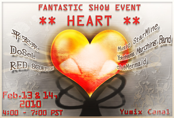 FANTASTIC SHOW EVENT ** HEART ** Poster (PST)