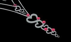 Jillian Silver Necklace - EmCee Widget