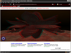 STONEFLOWER in VRML anaglyph 3d mode