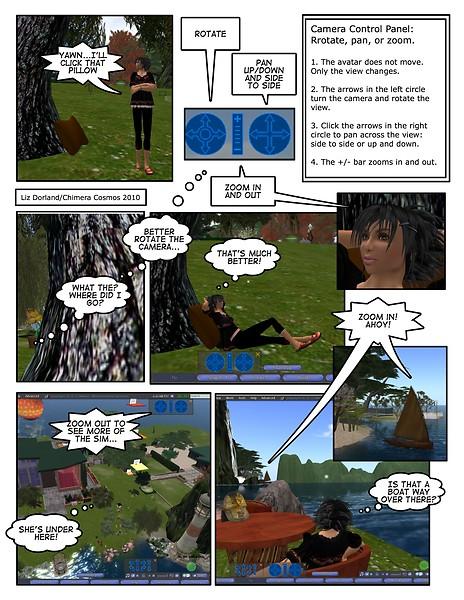 SL Camera Controls Comic Tutorial