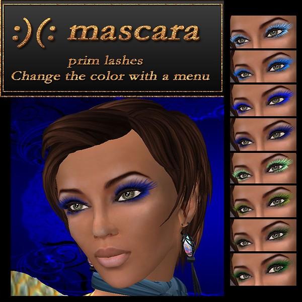 mascara blue green
