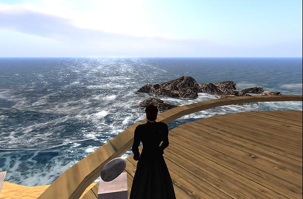 By the ocean....