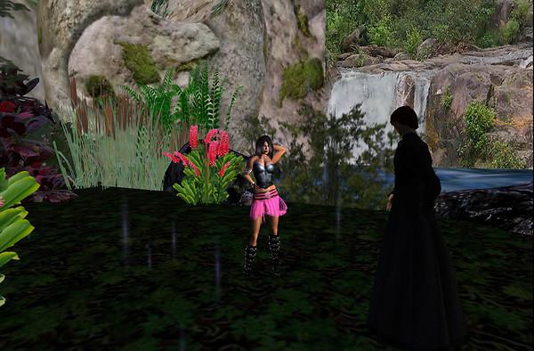 With Elisha at her island