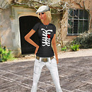 Oo Glad Rags Caged heart tee BeReal white jeans blond white cap
