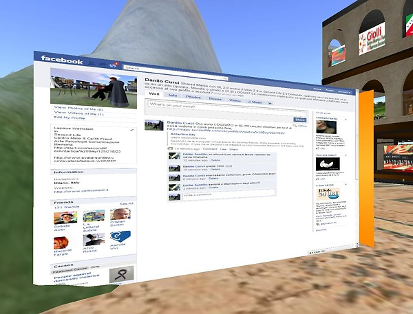 Connettersi a Facebook da Second Life - Lapsus Weinstein