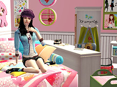 Sawa in her room