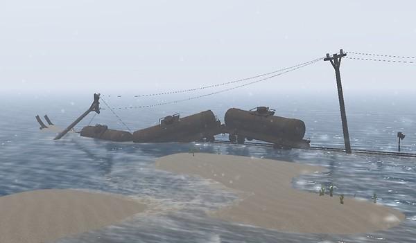 The train in the ocean - Koinup Burt