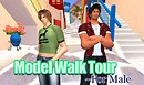 Model walk tour for male