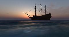 The ship at sea...