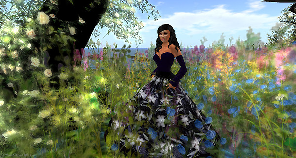 Among the flowers...
