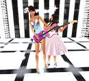 playing guitar with cute Kara1