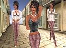 Prism 2010  Shimmer Sequin Leggings Outfit - Pink1
