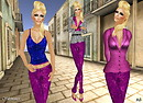 Prism 2010  Shimmer Sequin Leggings Outfit - Fushia