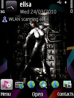 3D Wallpapers App on Nokia 563...