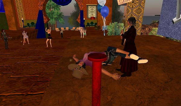 Rosedrop Rust  playing Villa Lobos in SecondLife