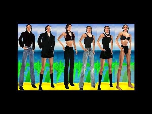 Avatar Poses with Clothing Designs