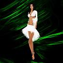 Sherry Yates white lace dress