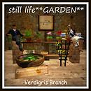 Still Life Garden in Verdigris
