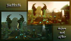 Before and after: Shattrath