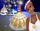 The Tiger in me Wedding Gown Art expresion