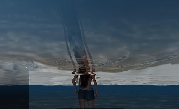 Running through water from below.....