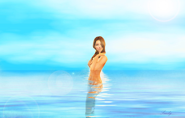 Bathing in the ocean