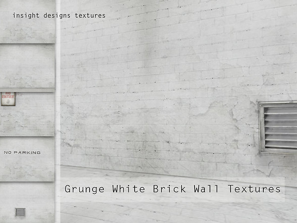 Grunge white Brick Walls by insight designs