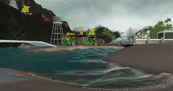 Beach ~ Blue Mars ~ Grid Rock City