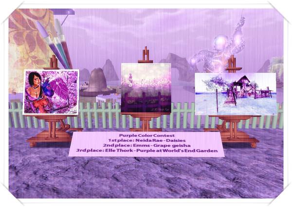 Purple colour contest - The winners! :)